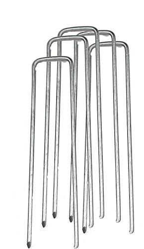 FOURCHES MÉTAL PIQUETS DE FIXATION POUR BACHE PAILLAGE 17 cm 300 PIÈCES