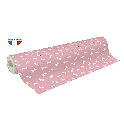 Clairefontaine 201962C Rolle Geschenkpapier Excellia (große Breite, 50 x 0,70 m, 60 g, ideal für Ihre Geschenke) 1 Stück rosa
