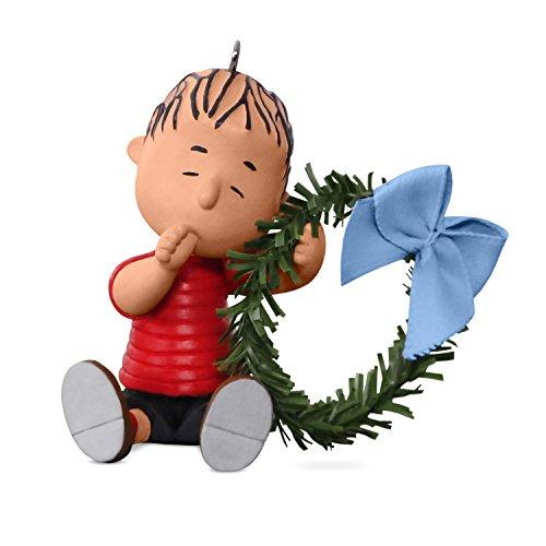 17 Erdnüsse Winterspaß mit Snoopy Mini Weihnachtsdekoration Linus mit Kranz, 2017 ()
