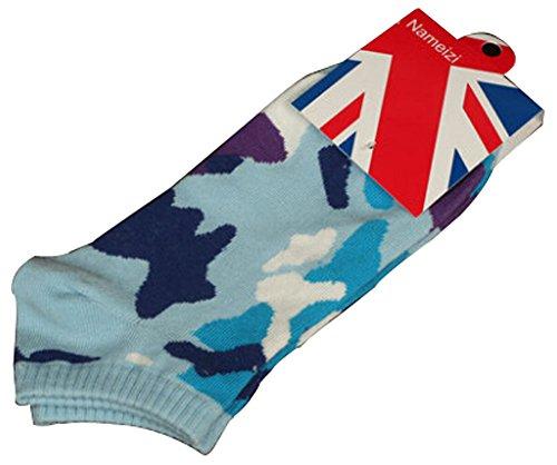 Lot de 2 Flag chaussettes en coton chaussettes pour hommes Bleu clair