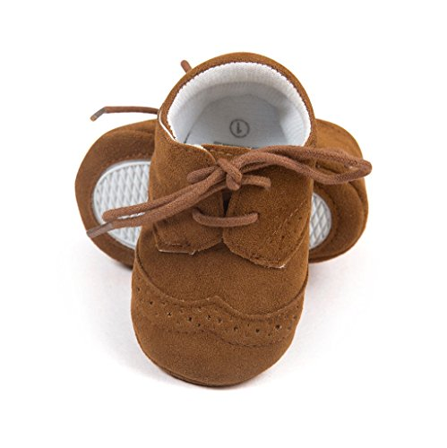 Baby Schuhe Auxma Baby-Jungen-Mädchen-Schuhe PU-Turnschuhe Für 3-6 6-12 12-18 Monat Dunkelbraun