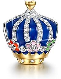 NinaQueen corona Abalorio de mujer de plata de ley