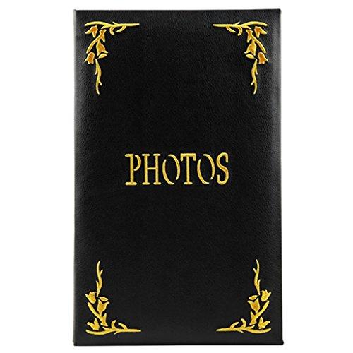 FOOHAO- Album photo PU interstitiel, collection de photos de broderie Vintage, contient 240 photos -15.2CM * 11.4CM (Couleur : Noir)