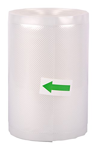 VACUUM PACKERS Plastic Food Grade Microwaveable Sealers Roll, Transparent, 6-inchX15 m