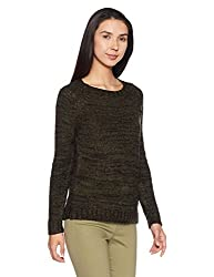 Forever 21 Womens Synthetic Pullover (00146027023_0014602702_Olive/Black_3)