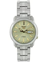 Stainless Steel Seiko 5 Automatic Two Tone Champagne Dial