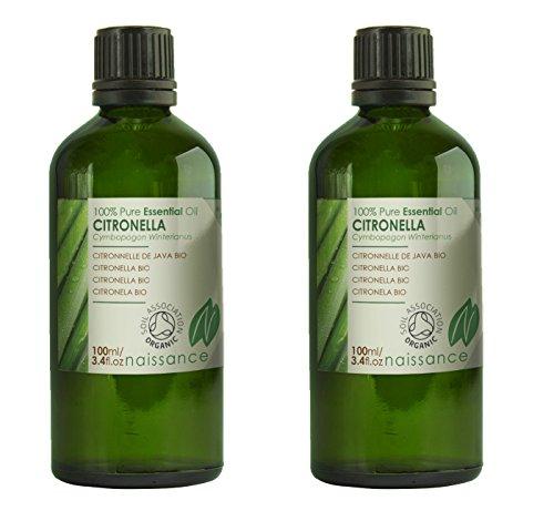 Naissance Citronela BIO - Aceite Esencial 100% Puro - Certificado Ecológico - 200ml (2x100ml)
