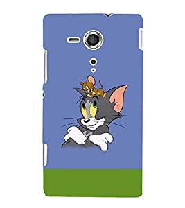 printtech Tom & Jerry Back Case Cover for Sony Xperia SP::Sony Xperia SP M35h