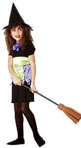 César - Disfraz de bruja para niña, talla 7 años (B900-001)
