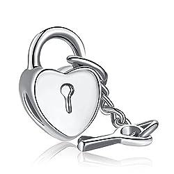 Carina Lock and Key Charm Fits Pandora Bracelets