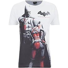 Batman Camiseta Oficial de Arkham Series Modelo Escena de y Harley Quinn Para Hombre