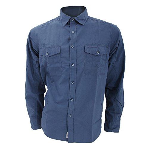 Craghoppers Kiwi Herren Freizeit-Shirt / Freizeit-Hemd, langärmlig (XL) (Helles Indigo) (Indigo Patchwork)