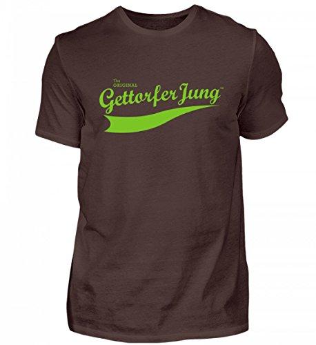 Shirtee Hochwertiges Herren Premiumshirt Gettorfer Jung Braun