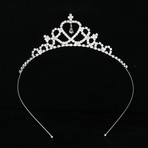 Tiara Diadema Corona Forma Corazón para Niños Banquete Boda