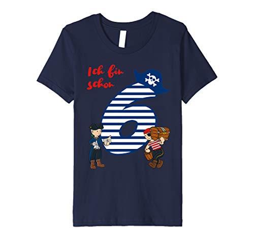 Kinder T-Shirt Geburtstag 6 Jahre Junge Pirat Ich bin schon ()