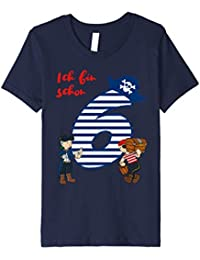 Kinder T-Shirt Geburtstag 6 Jahre Junge Pirat Ich bin schon 6