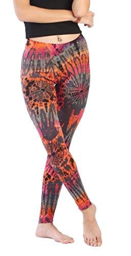 Candyhusky donne Tie Dye yoga leggings pantaloni da corsa leggera Dance workout running palestra leggings Grey
