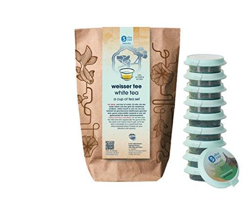 Shuyao Weißer Tee Set 10x Beauty Tee für deine verborgene Schönheit (30g)