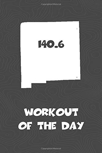Workout of the Day: New Mexico Workout of the Day Log for tracking and monitoring your training and progress towards your fitness goals. A great ... bikers  will love this way to track goals! por KwG Creates