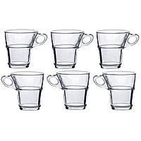 Duralex Tacitas de café Caprice de Cristal sin Plato. 9 Cajas de 6 Unidades