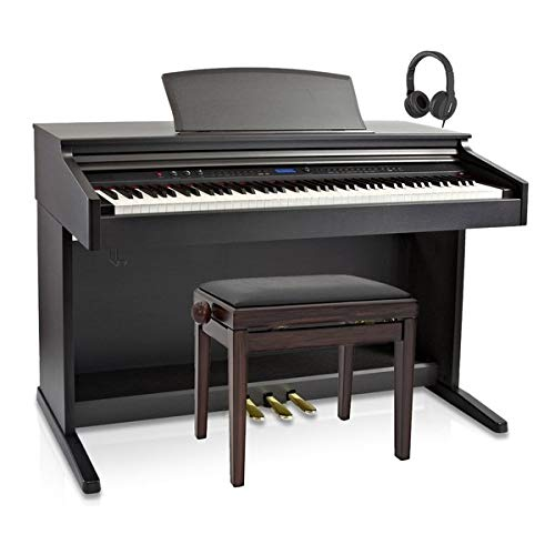 DP-20 Pianoforte Digitale di Gear4music + Pacchetto Sgabello Piano