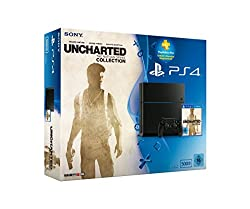 PlayStation 4 - Konsole (500GB) inkl. Uncharted: The Nathan Drake Collection + 90 Tage PSPlus Code [CUH-1216A]