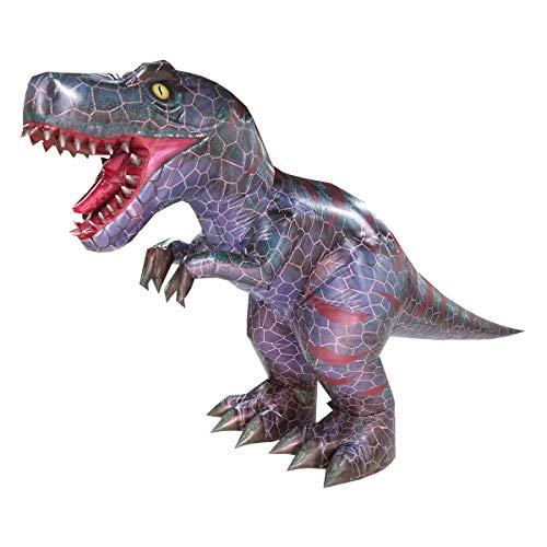 Happy Island Aufblasbares Tyrannosaurus-Kostüm Velociraptor Dinosaurier Erwachsene Halloween Rollenspiel-Spiel Verkleidung Cosplay Kleidung - grau - Large