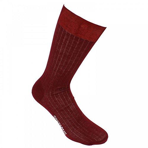Mercerised cotton socks, Premium quality. - Burgundy - Tony & Paul