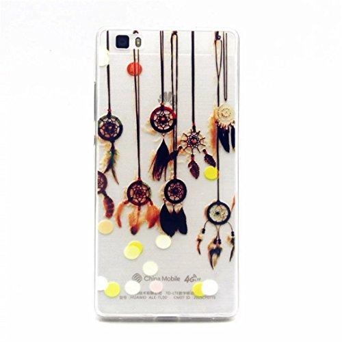 MUTOUREN Carcasa Huawei P8 Lite Funda Case ,remolque Campanula Transparente 3D TPU Piel Gel Cubierta De Silicona Suave Funda Tapa Para Huawei P8 Lite de silicona Funda