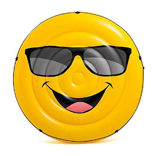LJJY Smiley Schwimmbett Verdickung riesigen aufblasbaren Schwimmer Ball Kinder aufblasbare Spielzeug Sommer Pool Party Erwachsene Wasser schwimmende Reihe Strand Schwimmbrett Surfbrett