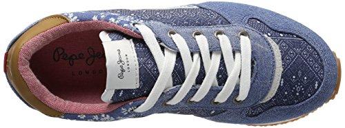 Pepe Jeans Mädchen Sydney Indigo Low-Top Blau (Dk Denim)