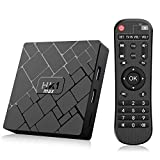 Bqeel Android 8.1 TV Box 【4GB+64GB】 Bluetooth 4.0 Android TV Box USB 3.0 HK1 Max RK3328 Quad-Core 64bit Cortex-A53 Wi-FI 2.4G/5G LAN100M 4K Android Box Smart TV Box