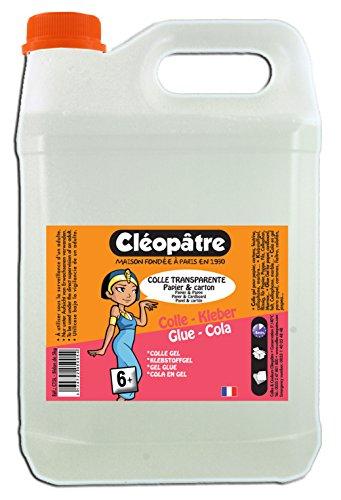 Cleopatra ct5l chiaro sintetico colla trasparente colla bottiglia 5litro