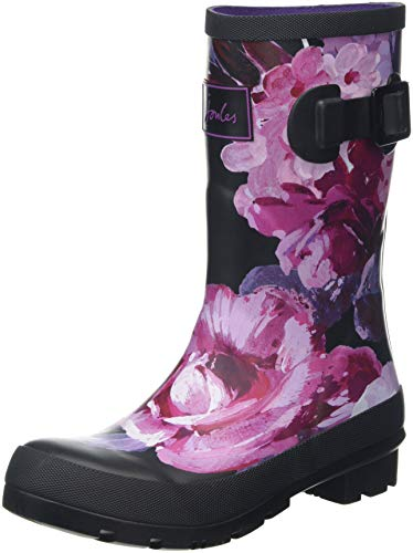 Tom Joule Damen Molly Welly Gummistiefel, Schwarz (Black Winter Floral Blkwtfl), 40/41 EU - Florale Fleece