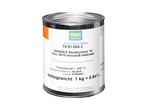 Warnex 0131 WHI - Strukturlack weiß 1 kg