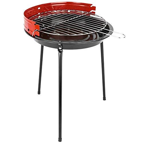 PrimeMatik - Barbacoa de carbón de 33 cm con Patas BBQ Grill para jardín y Camping