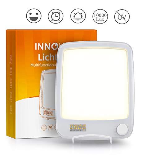 10000 Lux Lampe Luminotherapie avec Reveil Simulateur D'aube, Reveil Luminothérapie Lumineux...
