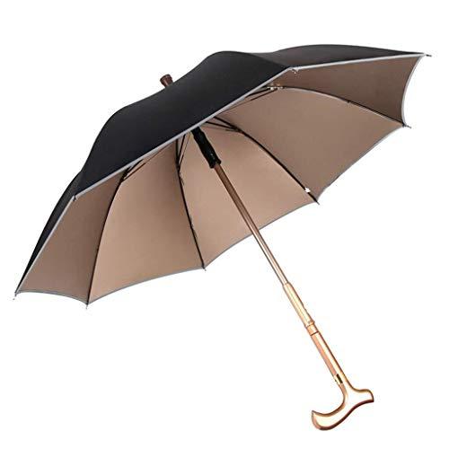 ZKKWLL Zuckerrohr Outdoor Stock Regenschirm Langen Griff einstellbare Verstärkung rutschfeste Bergsteigen ältere Spazierstock Regenschirm Geländestock - Größe Kind Spazierstock,
