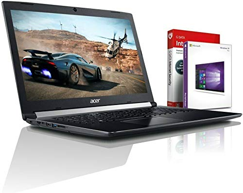 Acer Ultra i5 SSD Gaming (17,3 Zoll Full-HD) Notebook (Intel Core i5 8250U mit 3.4 GHz, 8GB DDR4, 256GB M2 SSD, 1000GB HDD, NVIDIA Geforce MX 130 GDDR5, DVDR/RW, HDMI, Windows 10, MS Office) #6161