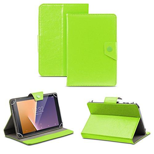 NAUC Tablet Tasche für Vodafone Tab Prime 6/7 Schutzhülle Hülle Case Schutz Cover, Farben:Grün