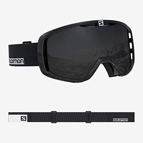 Salomon, Aksium, Máscara esquí unisex, Negro-Blanco/Negro