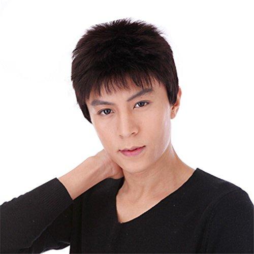 TT Männer kurze Haare Perücken flaumig kühle Luftdurchlässigkeit von 100% (Kostüme Für Männer Antike)