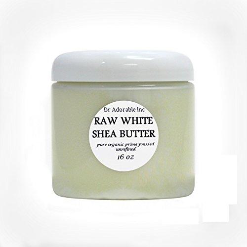 Premium High Quality Shea Butter WHITE Unrefined Raw Organic 16 Oz/1 lb