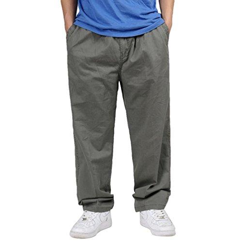 Lvguang Hombre Pantalon Cargo Pantalones Grande Tamaño