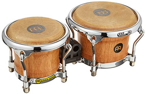 Meinl Percussion FWB100SNT-M Mini Wood Bongo-Set, Free Ride Series, Durchmesser 8,89 cm (3,5 Zoll) Macho / 10,80 cm (4,25 Zoll) Hembra, super natural