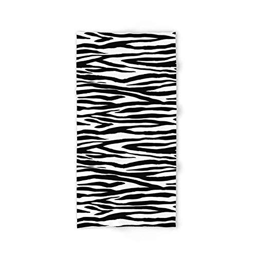 Donola Zebra Streifen Muster schwarz und weiß Badetuch 80x 130cm (Elmo-halter)