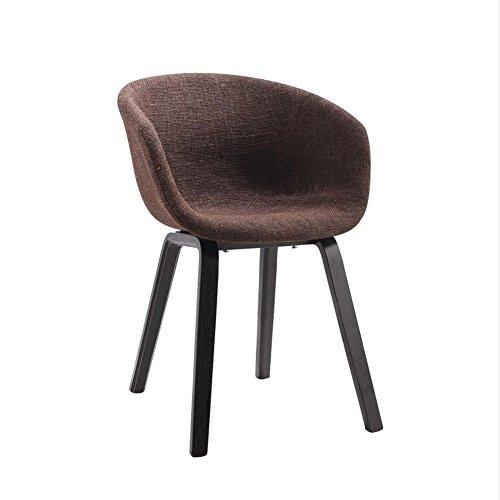 YIXINY Chaise Fauteuil Bois Massif Chaise Chaise De Bureau Chaise À Manger Confortable Coussin Tissu De Haute Qualité Moderne Loisir ( Couleur : Marron )