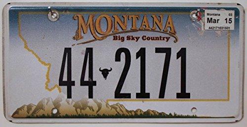 Preisvergleich Produktbild USA Nummernschild MONTANA ~ US Kennzeichen LICENSE PLATE ~ Blechschild Big Sky Country
