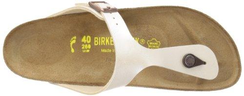 Birkenstock Gizeh Birko-Flor, Tongs femme Perle blanche