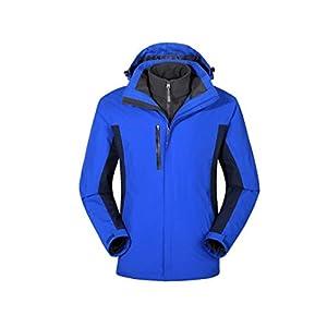 BRAVOLUNE Unisex Desmontable Al Aire Libre Montañismo En 1 Escudo Azul Montaña Ropa Impermeable a Prueba De Viento S… 7